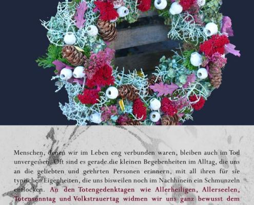 t01b 495x400 Blumen   Zeichen des Gedenkens